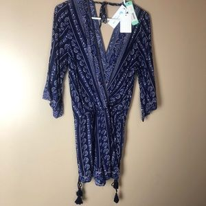 Skies are Blue Romper Boho Size Med Stitch Fix New